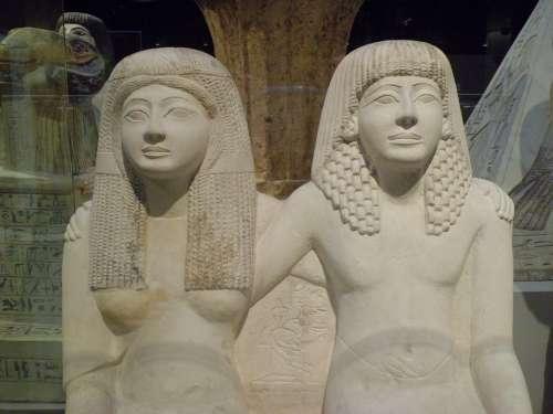 Egyptian Museum Torino Egyptian Statues