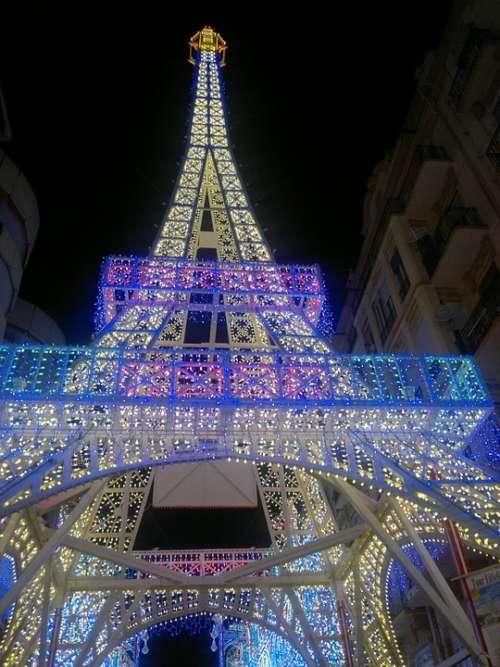 Eiffel Tower Lights Parties Tower Lit Street