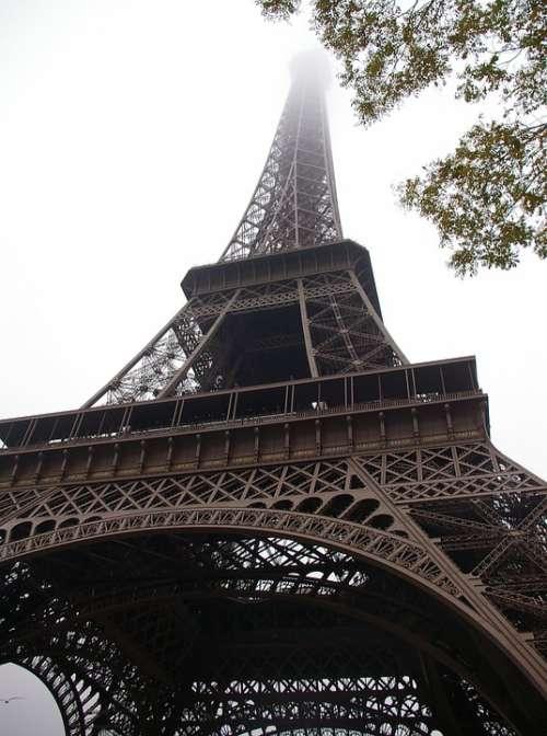 Eiffel Tower Paris Fog Europe France Tower Expo