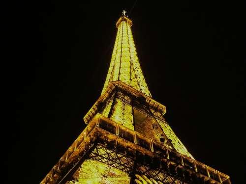Eiffel Tower Paris France Landmark Destination