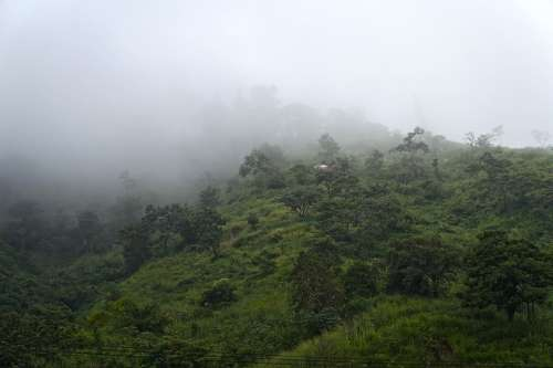 El Salvador Mountains Hill Sierra Fog Air Green