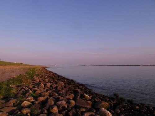 Elbe Beach Elbe Bank Rest Wide