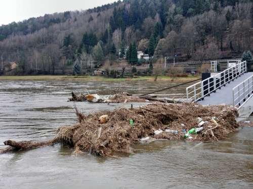 Elbe Flood Elbe Bad Schandau Germany