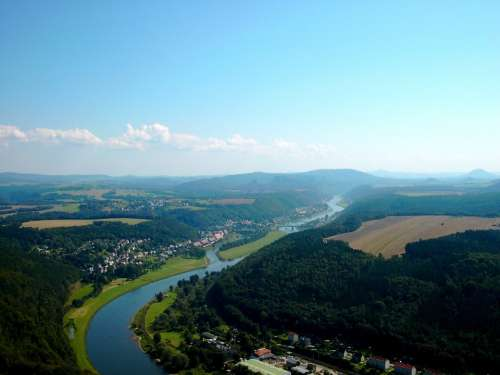 Elbe Valley Elbe River Nature Park Landscape