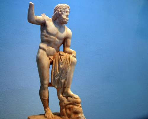 Elefsis Greece Statures Old Gods Religion