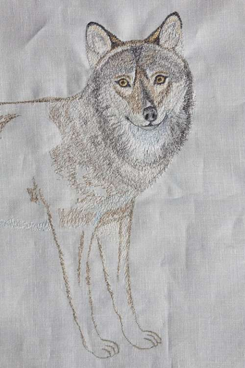 Embroidery Wolf Fairy Tales Design Sewing Machine