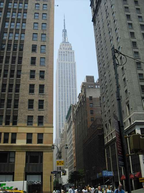 Empire State Building Skyscraper City New York City