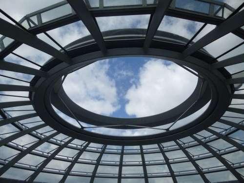 Empire Tags Dome Glass Architecture Berlin Sky