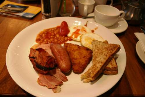 English Breakfast Sausage Beans