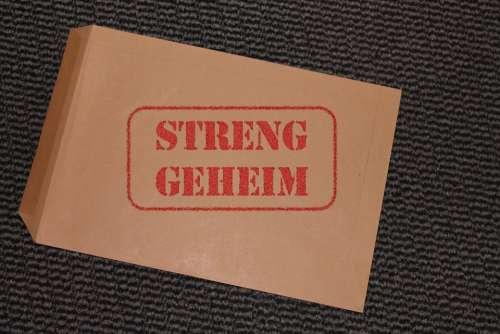 Envelope Confidential Secret Private Stamp