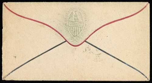 Envelope Back Flap Old Vintage Stained Used