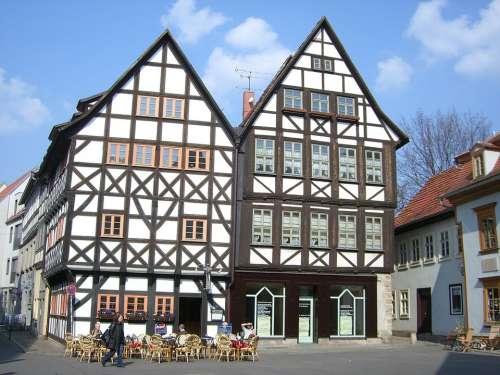 Erfurt Fachwerkhäuser Building Downtown