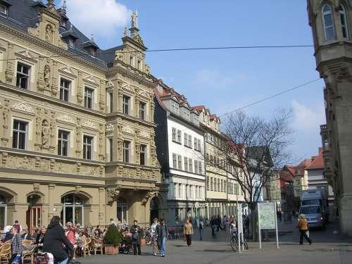 Erfurt Downtown Building Facade Architecture