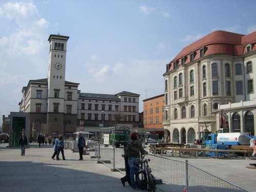 Erfurt Bahnhofplatz Downtown Building