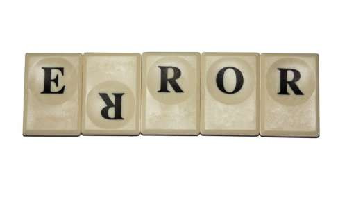Error Play Stone Letters Large Set