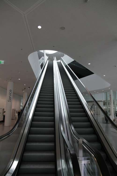 Escalator Moving Stairs Modern Architecture
