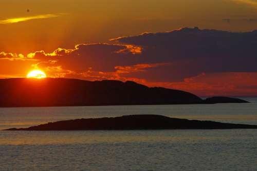 Evening Summer Nature Beautiful Sunset Ocean Sea