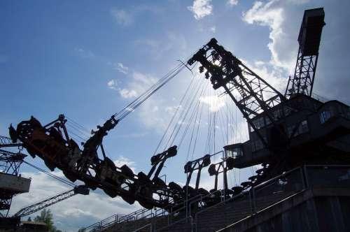 Excavators Open Pit Mining Brown Coal Steel