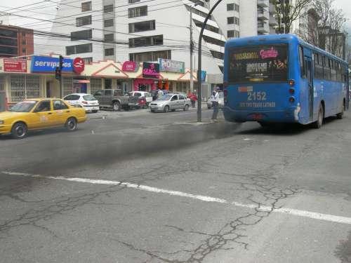 Exhaust Fumes Pollution Environment Quito Ecuador