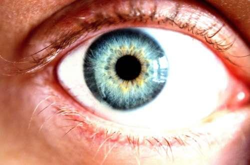 Eye Blue Cornea Color Macro Background People