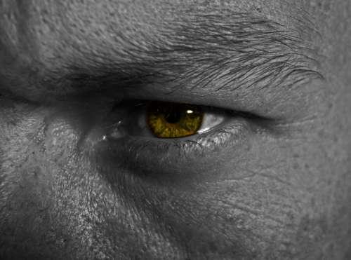 Eye Background Light Effect Macro Man People