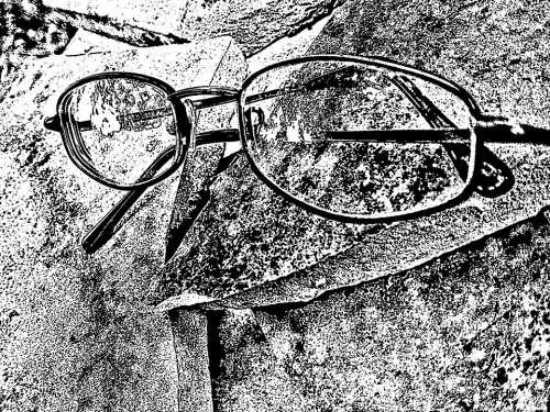 Eyeglasses Spectacles Glasses Artistic Black White