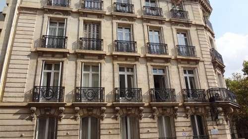 Facade Windows Building Paris