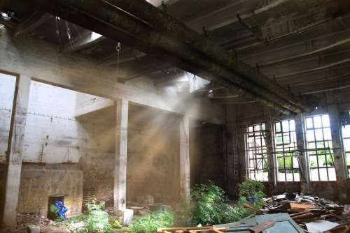 Factory Building Old Factory Lapsed Ruin Mystical