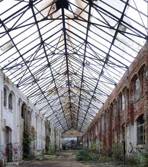 Factory Building Ruin Lapsed Saxony Leipzig