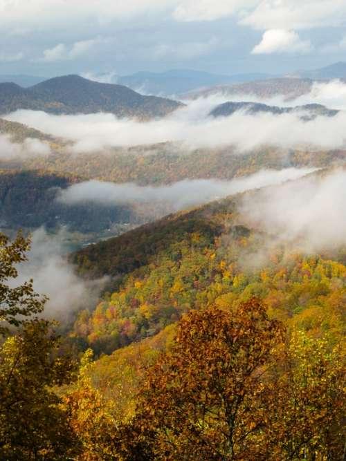 Fall Colors Autumn North Carolina Blue Ridge Parkway
