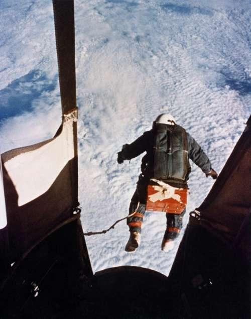 Fallschrimsprung Record Joseph Kittinger 1960