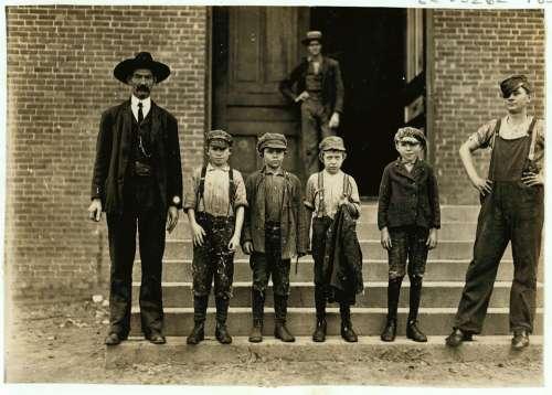 Family Boys Historic People Children