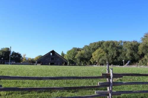 Farm Barn Rural Country Farming Landscape House