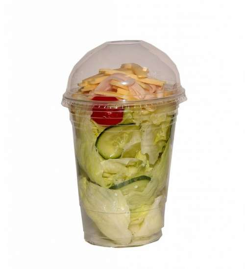 Fast Food Salad Finish Salad Plastic Packaging