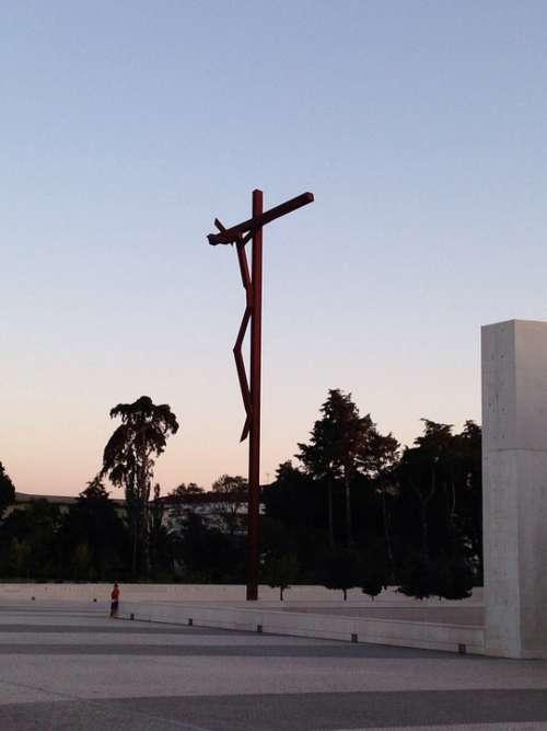 Fatima Portugal Sanctuary Christ Dusk