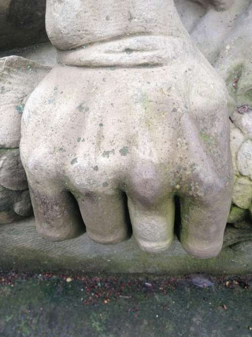 Faust Hand Stone Force Finger Sculpture