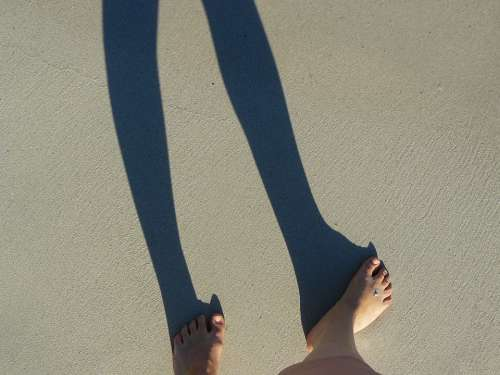 Feet Ten Legs Sand Reprint Beach Shadow Hispanic
