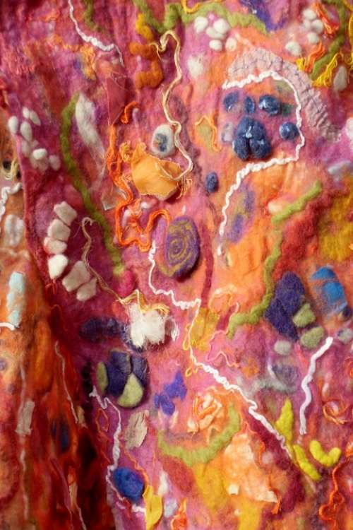 Felt Art Colorful Wool Hand Labor Scarf