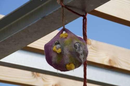 Felt Felted Nest Bird'S Nest Decoration Art