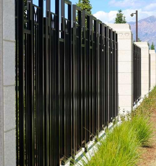 Fence Gate Outside Metal Wall Barricade Barrier
