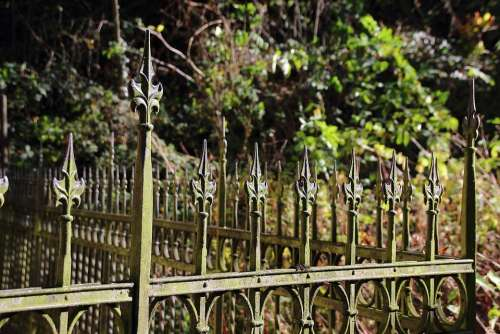 Fence Metal Iron Grid Old Great Wrought Iron