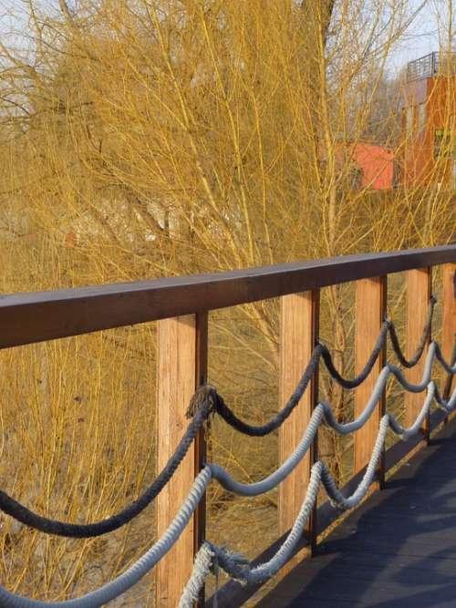 Fence Wood Fence Rope