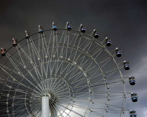 Ferries Wheel Rides Amusement High Scared Excited
