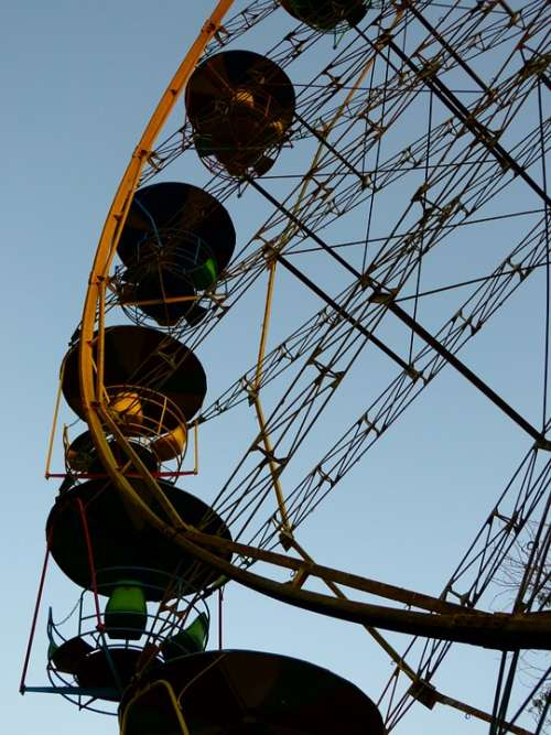 Ferris Wheel Ride Carousel Old Evening Bukhara