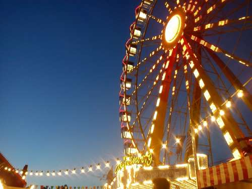 Ferris Wheel Year Market Carousel Ride Fair
