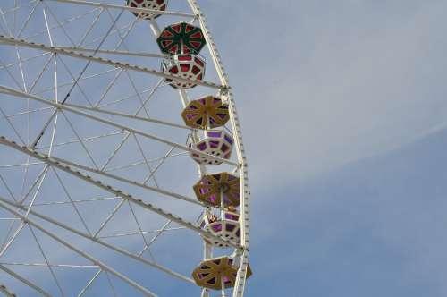 Ferris Wheel Big Wheel Amusement Park Ride Summer