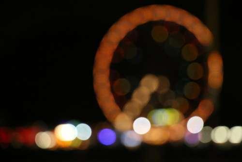 Ferris Wheel Seaside Fairground Wheel Bokeh Blur