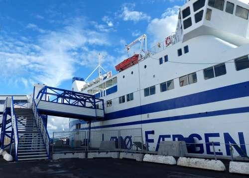 Ferry Port Pier Sea Investors Blue White Blue