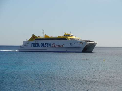 Ferry Ship Ocean Water Summer Holiday Travel Sea