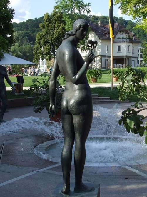 Figure Woman Fountain Statue Bronze Statue